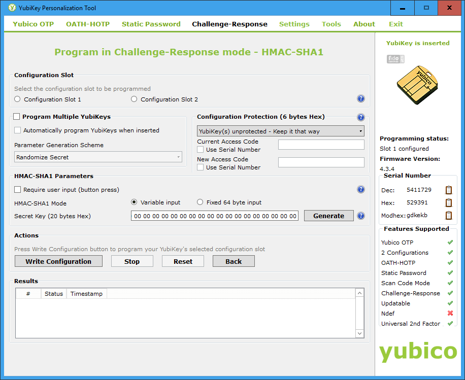 Yubikey WIndows