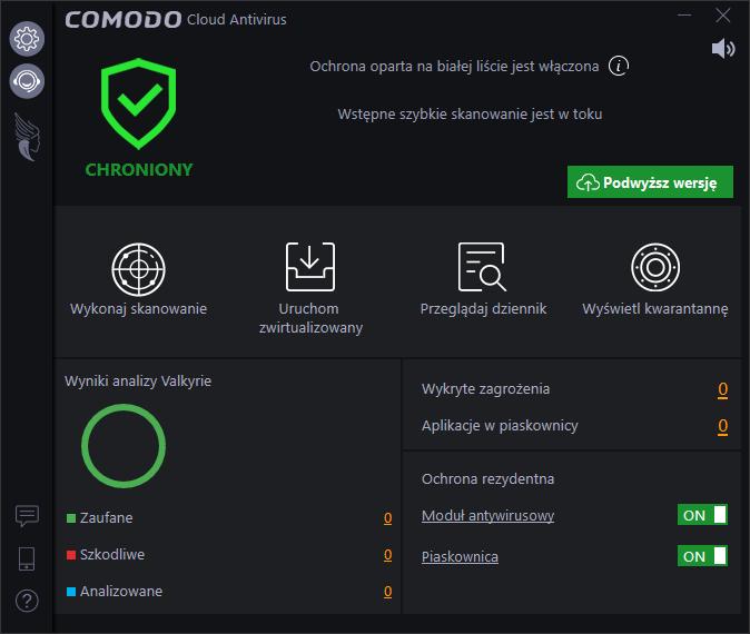 Darmowe antywirusy 2018 - Comodo Cloud Antivirus