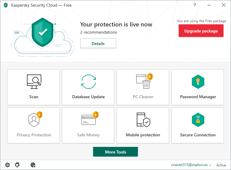 Kaspersky Security Cloud Free.