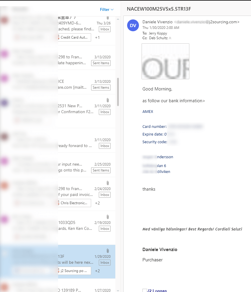 Skradzione informacje zkonta pocztowego.