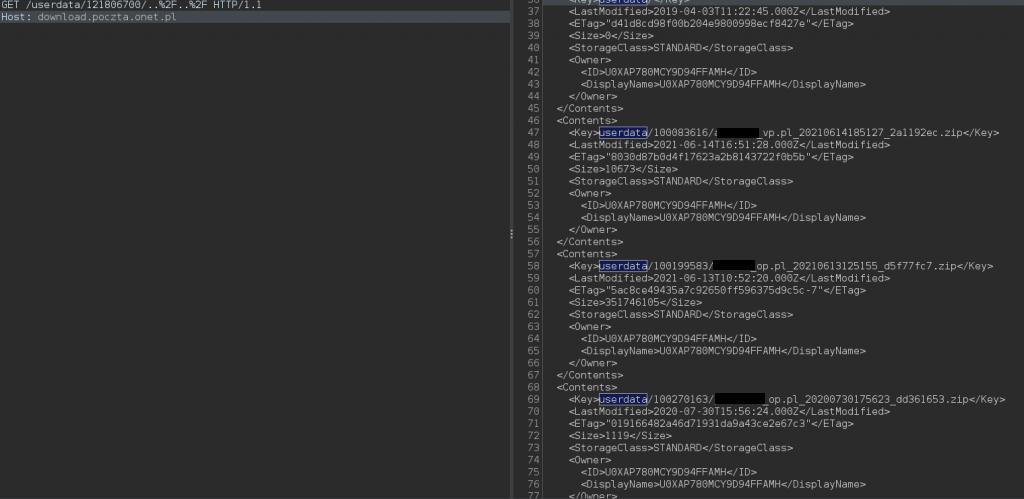 Wylistowane ścieżki dodanych użytkowników.