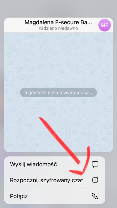 Telegram szyfrowanie end toend